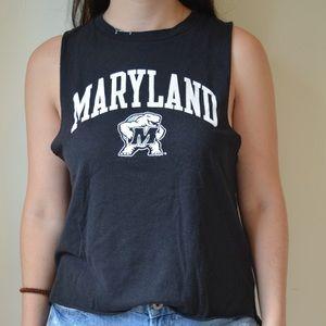 University of Maryland Black Muscle Tee Medium